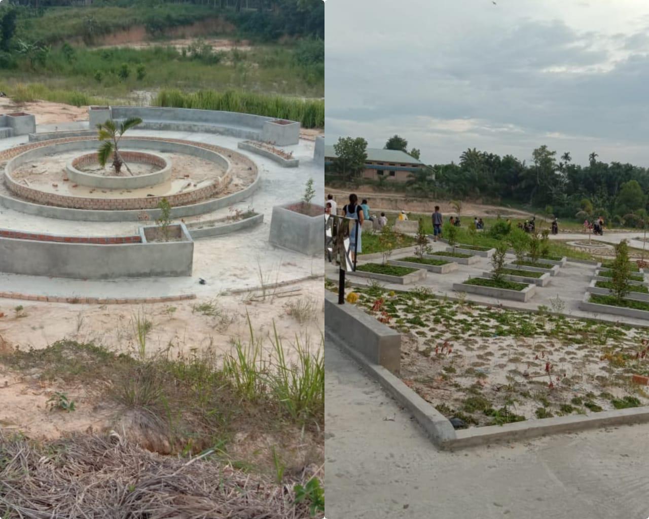 Warga Kecewa, Pembangunan Taman Bermain Anak di Tebingtinggi Dikerjakan Asal Jadi dan Terbengkalai