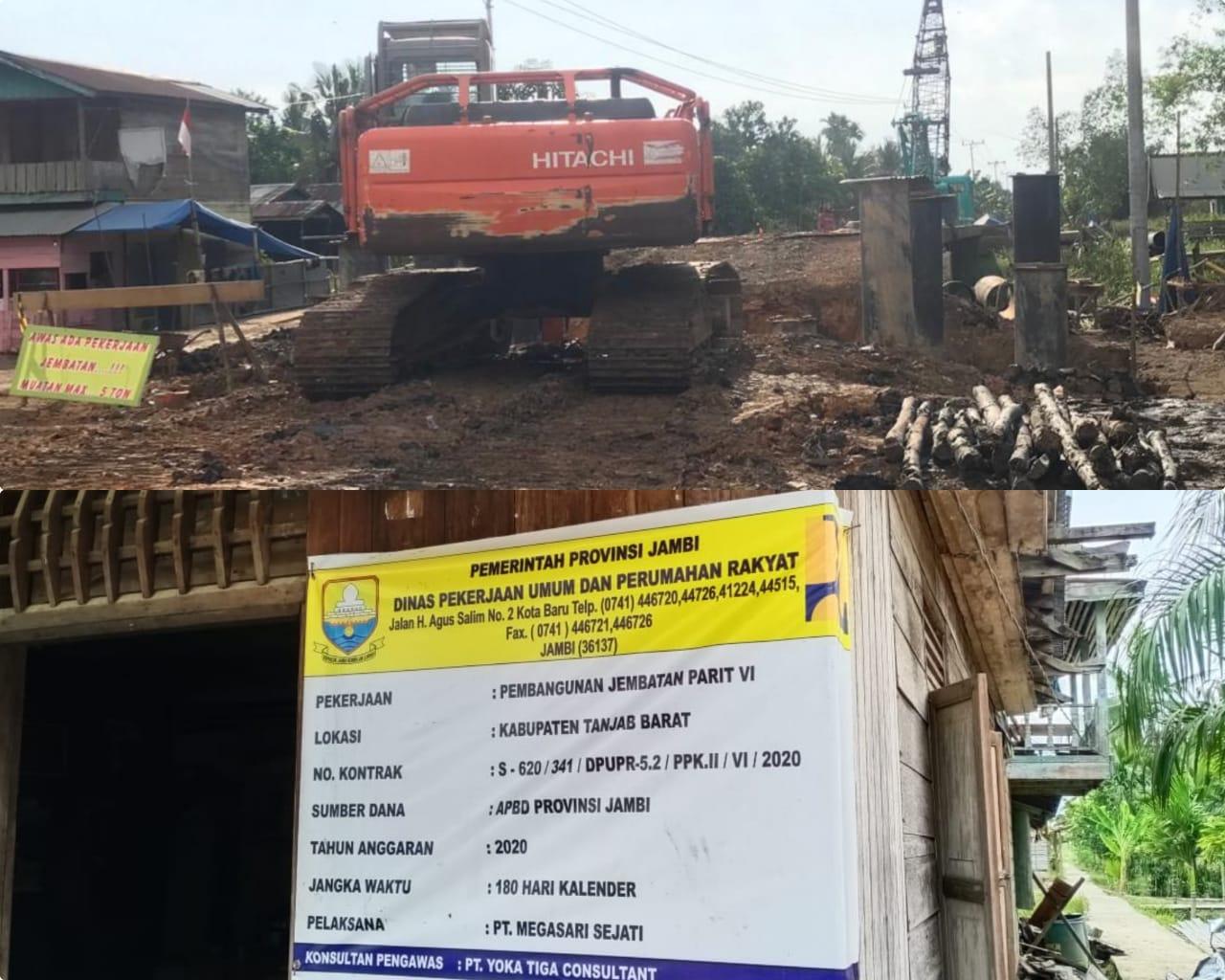Proyek Pembangunan Jembatan Milik PUPR Provinsi Jambi Tidak Transparan, Dewan Minta Sesuai Ketentuan