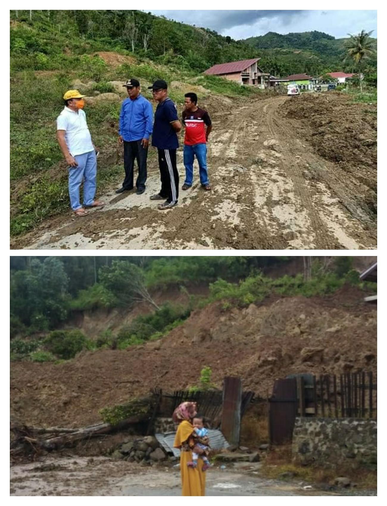 Ancam Jiwa,  Warga Minta Dinas PUPR Serius Tangani Longsor di Desa Baru Sungai Deras